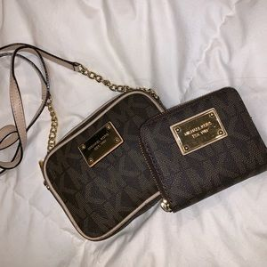 Michael Kors Crossbody purse and wallet